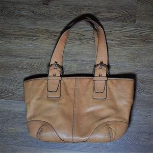 COACH 9544 Camel Leather Soho Satchel